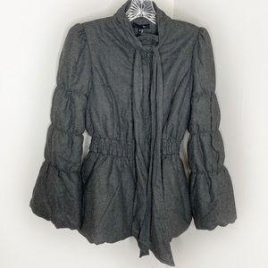 NWT RYU Quilted Puffer Sleeve Gray Jacket Small